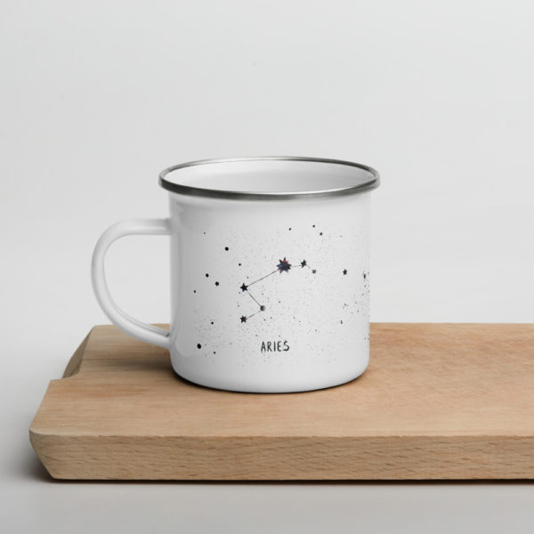 white mug over a wooden plank