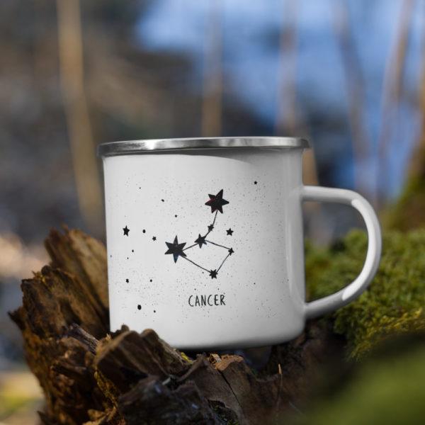 White mug with constelations