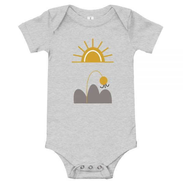 baby-short-sleeve-one-piece-white-here-comes-the-sun-gray
