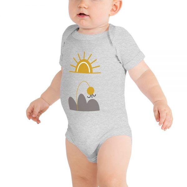 baby-short-sleeve-one-piece-white-here-comes-the-sun-grey