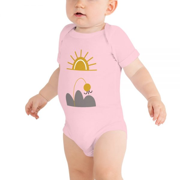 baby-short-sleeve-one-piece-white-here-comes-the-sun-pink